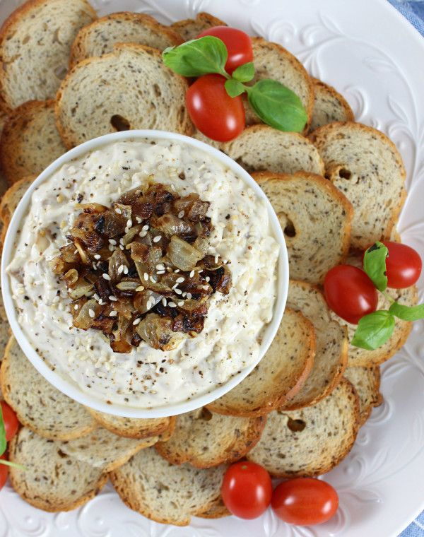 15-Minute Caramelized Onion Dip with Greek Yogurt! #recipe #15min # ...
