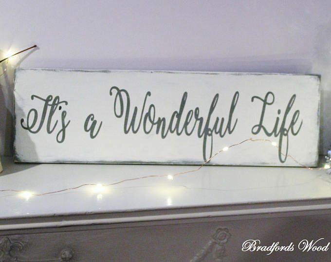 Wood Sign It S A Wonderful Life Christmas Signs Christmas