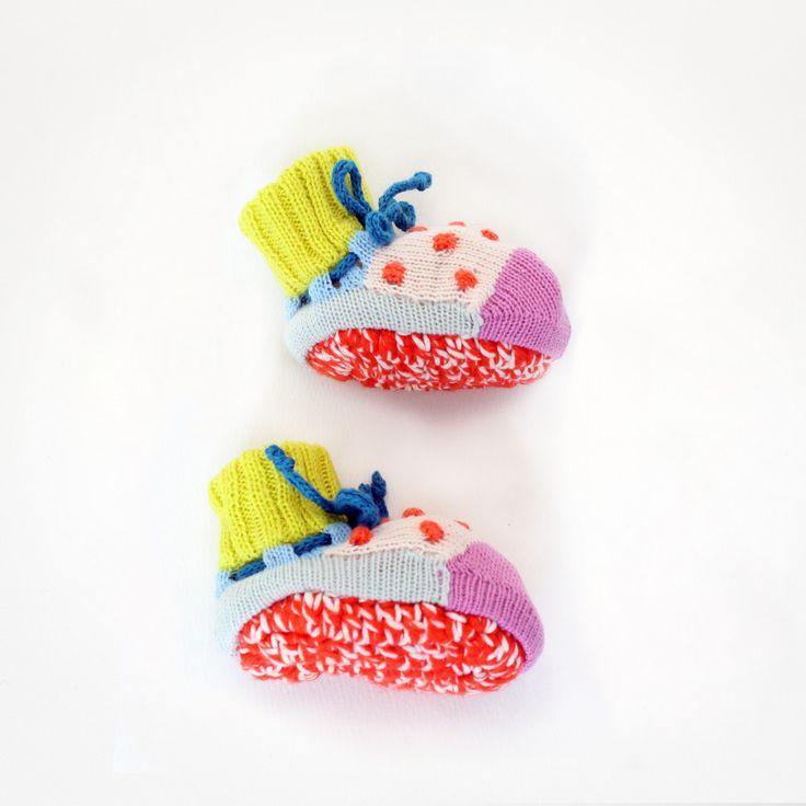 Adore. Dot Booties - Baby Degen. #estella #baby #knits