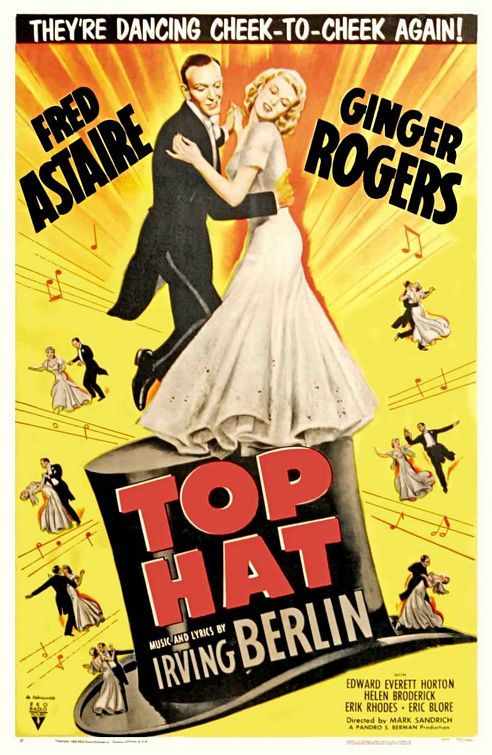 The first movie I saw with Fred Astaire and Ginger Rogers. Loved them ever since.