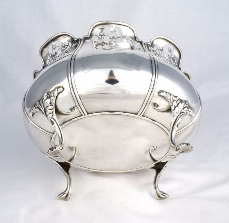 Stunning Art Nouveau Silver Footed Bowl Mappin & Webb 1911   436045   Sellingantiques.co.uk