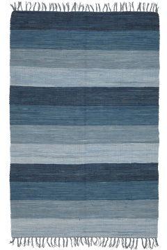 Jotex Sininen HARMONI-räsymatto, 130x190 cm