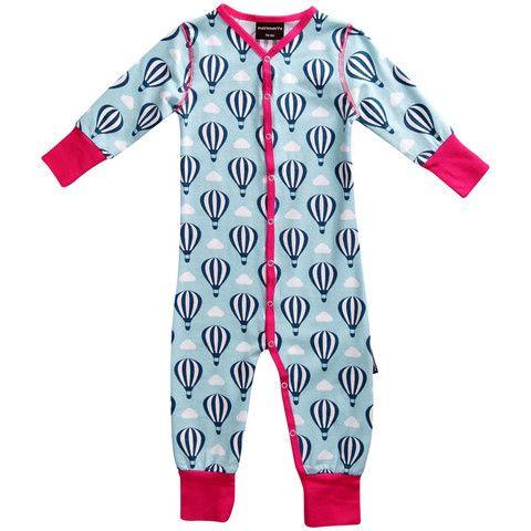 Hot Air Balloon Organic Snapsuit - ittikid • Scandinavian Children's Clothes - Scandinavian Baby and Kids Clothes | Organic Eco Friendly Kids Clothes from Smafolk, Maxomorra, Duns Sweden, Sture & Lisa