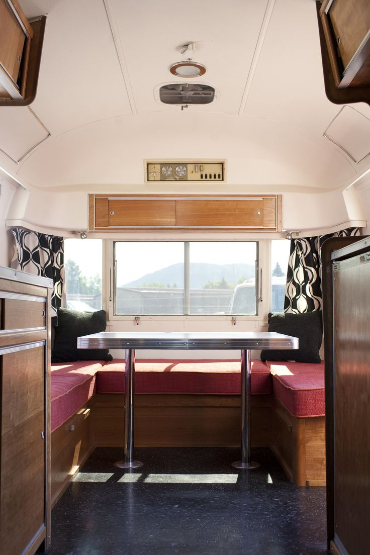 Dinette In A 1972 Airstream Our Vintage Trailer