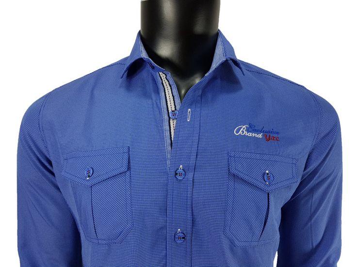 Koszula męska niebieski - - Koszule męskie - Awii, Odzież męska, Ubrania męskie, Dla mężczyzn, Sklep internetowy