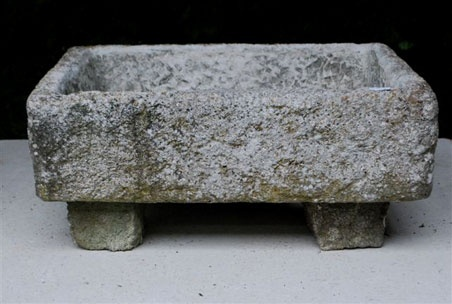 stone trough with feet