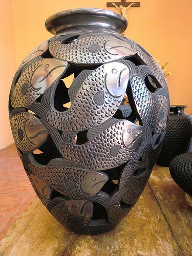 Arte en plata negra en Oaxaca.