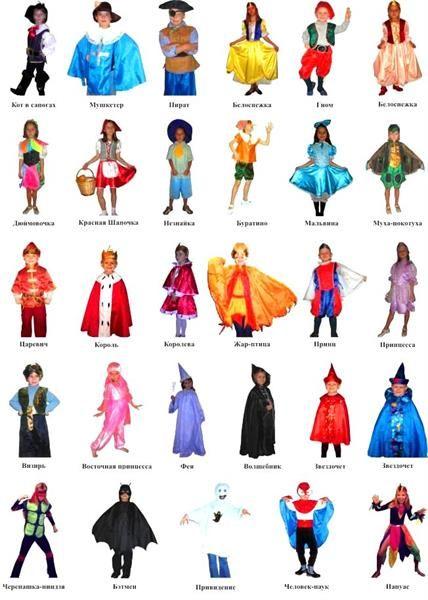Эскизы детских праздничных костюмов