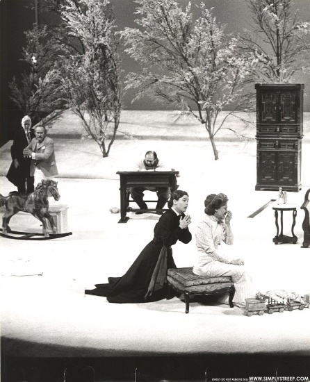 Streep in the 1976-77 NY stage production of 'The Cherry Orchard' also starring Irene Worth, Michael Cristofer and Mary Beth Hurt.