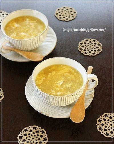 定番朝ご飯スープ。~とろとろコーンスープ~ by るぅさん   レシピ ...