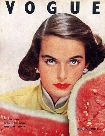 Vogue UK, August 1951 #cover | photograph by Erwin Blumenfeld