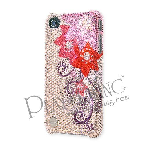 Camellia Swarovski Crystal iPhone 4 and 4S Case PlayBling Designer Collection, designed by Marlon Teunissen (Netherlands). Ingredient Branding Partner With Swarovski. Each Crystal Is 100% Hand Set By Skilled Craftsman. Over 1,000 Piece Genuine Crystals Studded. Presented In Premium Gift Set, includes Packing Box, Cleaning Cloth, Superior Soft Pouch, Product Tag, Product Certification.  #PlayBling #Wireless