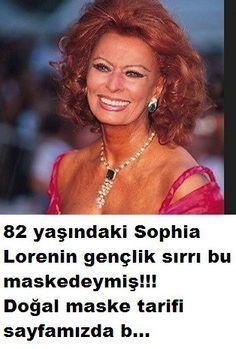 Sophia Lorenin gençlik maskesi tarifi Sadece iki Dakika`da göz altı torbalar…