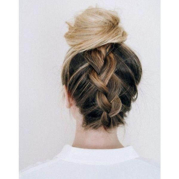 Summer Hairstyles and How to Do Topknots, Buns, Chignons ❤ liked on Polyvore featuring beauty products, haircare, hair styling tools, hair and hairstyles