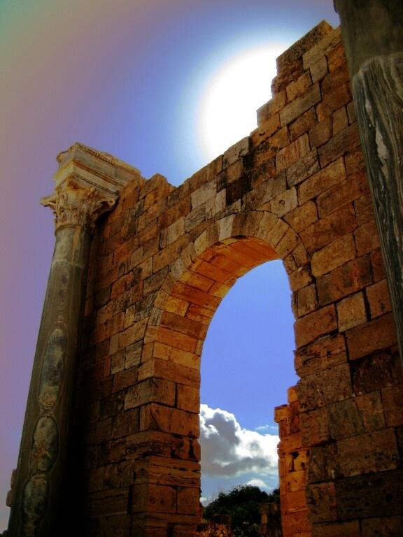 Ruins of Roman Empoer Leptis Magna in Libya 2008