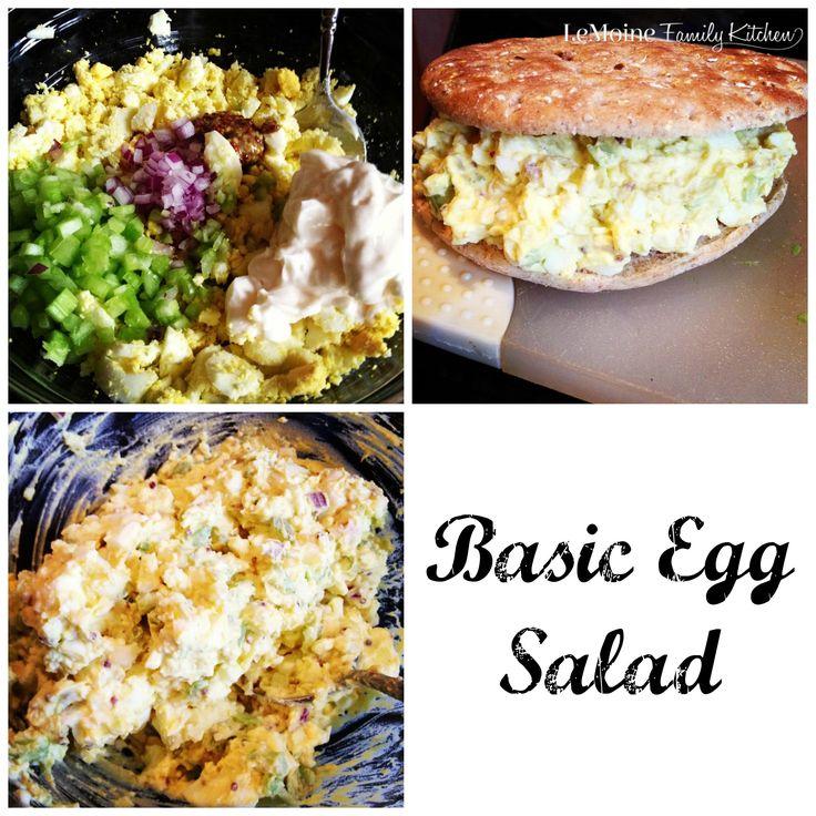 Tis the season for lots of hard boiled eggs! Heres my Basic Egg Salad ...