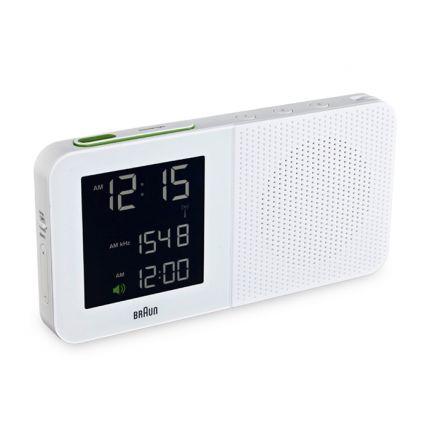 Digital Alarm Clock Radio - White | Braun | HORNE