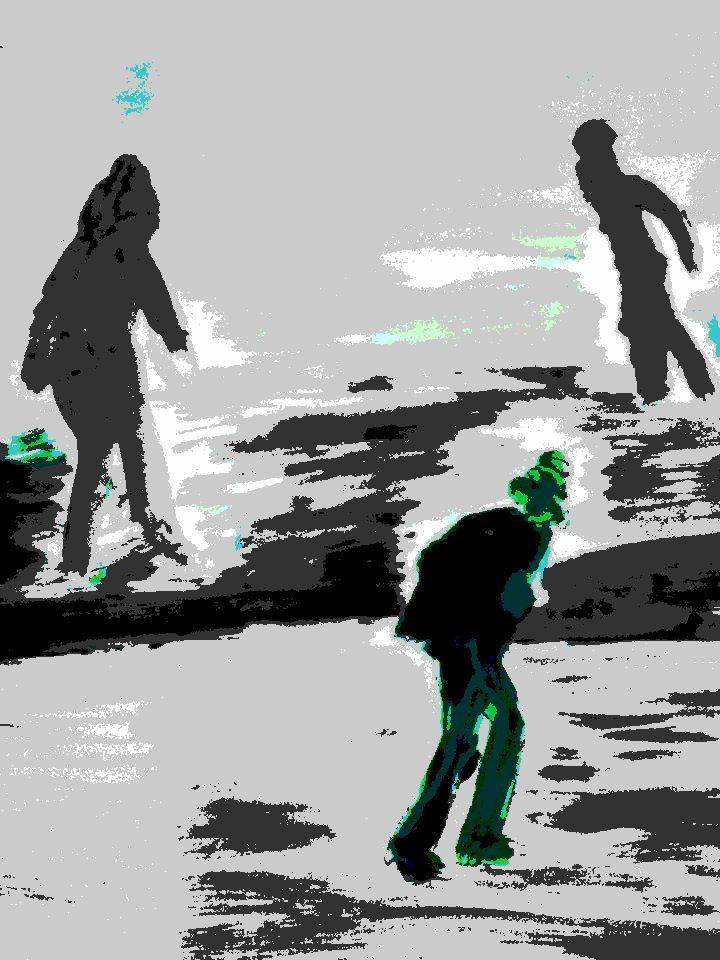 ABK MORTSEL - bewerkte foto van tekening, werk van lutgard
