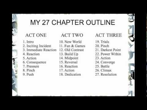 How I Outline! [3 Acts : 9 Blocks : 27 Chapters] - YouTube