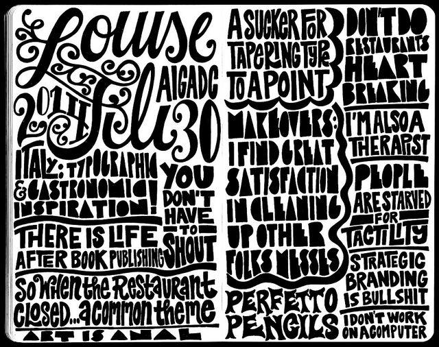2014 Louise Fili Sketchnotes