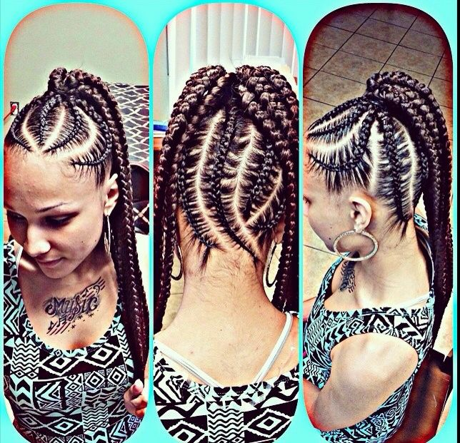 Incredible 1000 Images About Cute Cornrow Braids On Pinterest Mohawks Short Hairstyles For Black Women Fulllsitofus