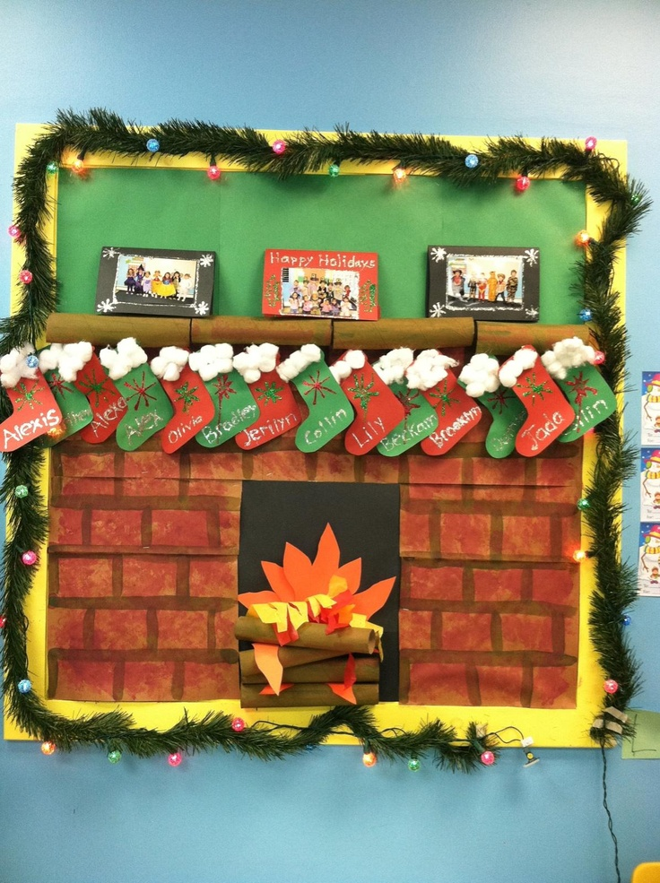 December Christmas Prek Bulletin Board We Made The Cards