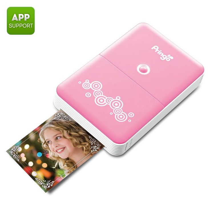 Image of Portable Wi-Fi Photo Printer - Prints Photos From Smartphone, Free Android and iOS Apps, 2.1 x 3.4 Inch Image