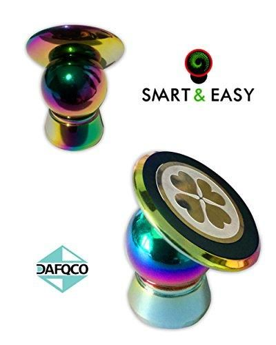 Magnetic Cell Phone Holder - Cell Phone Car Mount - Car Mount Phone Holder - Magnetic Dashboard Mount - Suitable For All Phone Sizes And Tablets - Fits In Any Vehicle (Rainbow)
