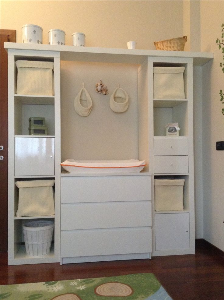 Nursery changing table malm expedit and accessories for Kinderzimmer bella
