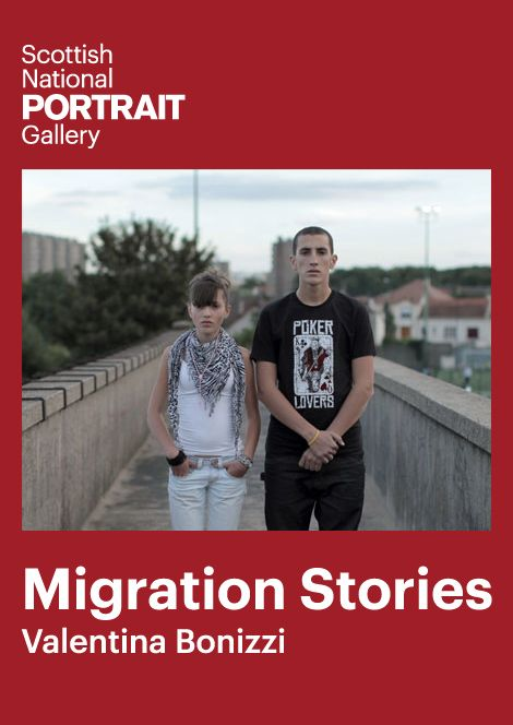 """""""The poster for Migration Stories: Valentina Bonizzi, a series of photographs by the Italian-born, Scotland-based artist who explores immigrant experiences from  1940 to today in her work."""""""