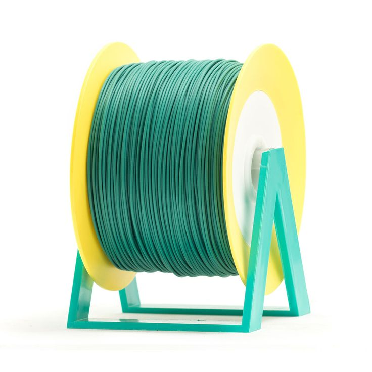 PLA Filament Color Ever Green EUMAKERS | Diameter 1,75mm | New spool is convertible into a coat hanger. Spool holder included | Weight: 1 Kg | www.monzamakers.com #3Dprinting #3Dprint #3Dfilament #3Dfilaments #Eumakers #MonzaMakers