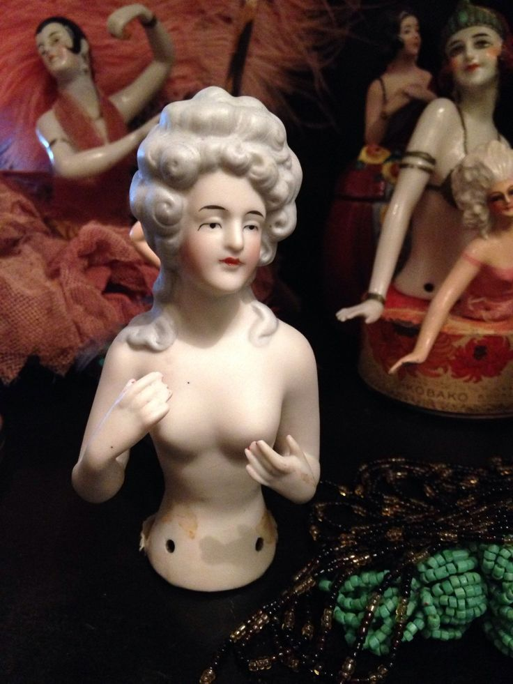 Antique german large bisque half doll , grande demi figurine en biscuit allemande . de la boutique LesPierreVintage sur Etsy