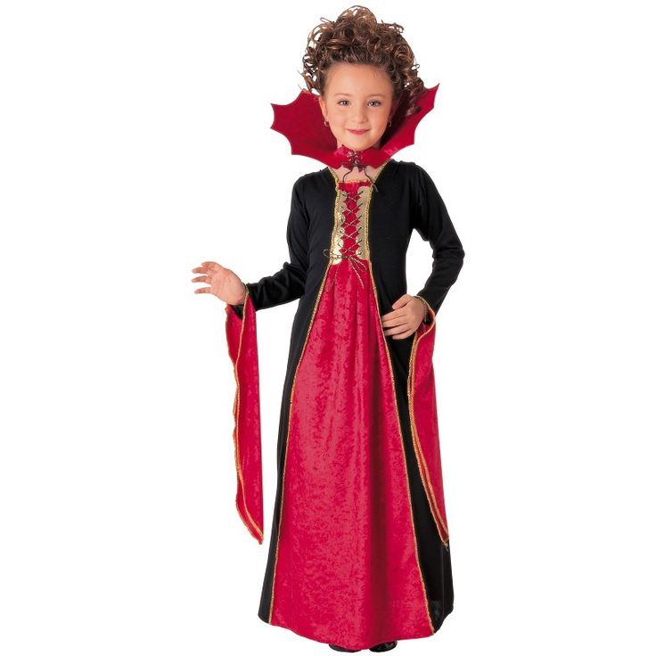 Disfraz Vampiresa Gotica Roja Niña