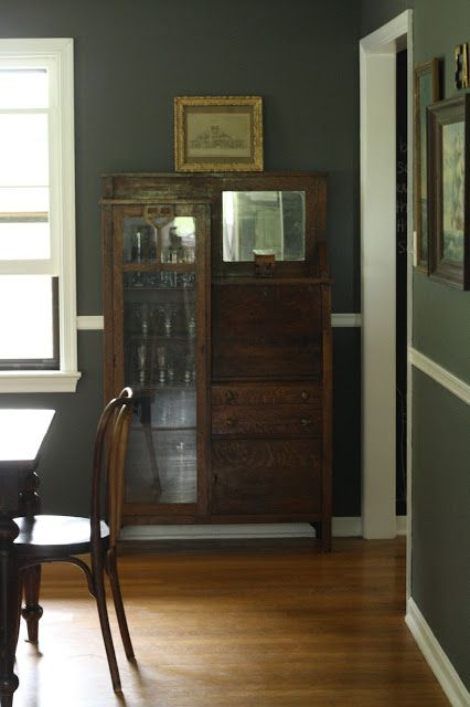 My New Charcoal Gray Dining Room! - Primitive and Proper