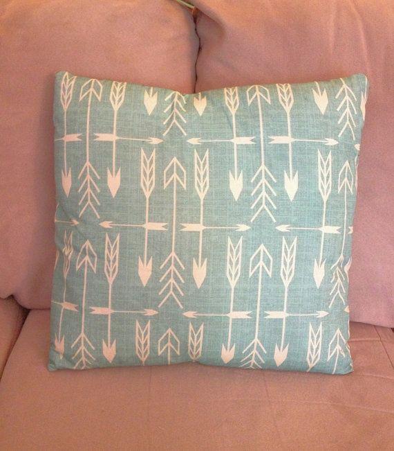 Arrow Throw Pillows, decorative pillows, by AlchemyHomeDecor, $20.00; southwestern decor, arrow decor, turquoise pillows