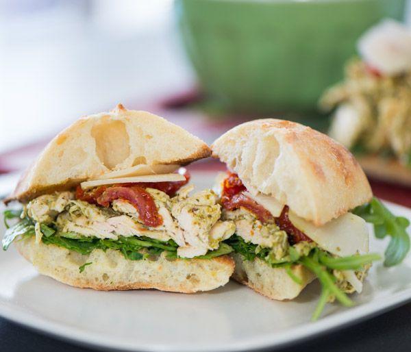 chicken #pesto #picnic #sandwiches