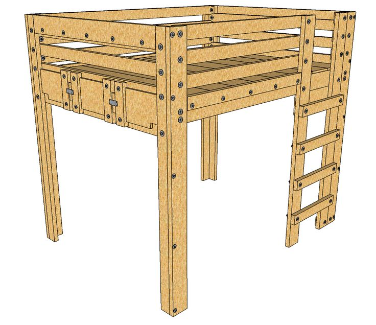 Queen Loft Bed Plans Description: These queen loft bed plans provide a SOLID foundation for an elevated queen sized bed frame suitable for adults. The design is simple and sturdy with the option to convert the design over to bunk beds later or even a Bed Fort. These plans get you started while spending the […]