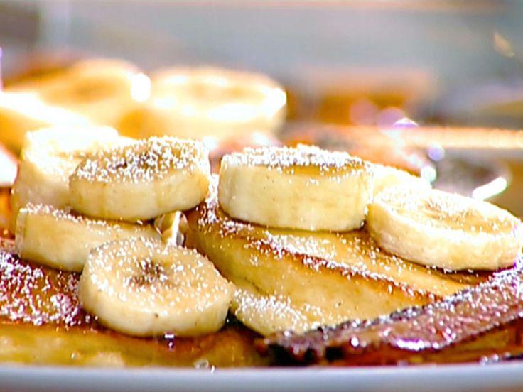 Banana Sour Cream Pancakes recipe from Ina Garten via Food Network