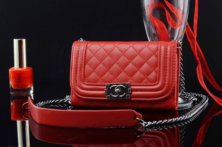 Chanel iphone 6 Case Designs leather Cover bag red
