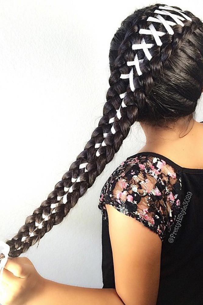Amazing Braid Hairstyles with Corset Braid Hair ★ See more: http://glaminati.com/corset-braid-hairstyles/