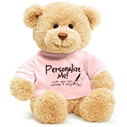 GUND Gund personalized Me T-shirt Bear message Teddy Bear (Pink) (japan import)