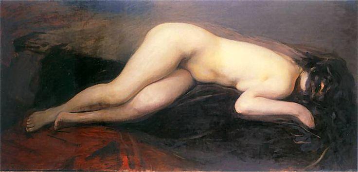 Wojciech Weiss - Akt leżący, 1897