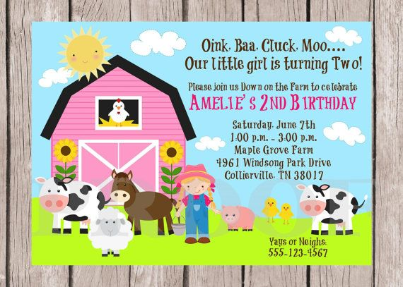 top 25+ best farm party invitations ideas on pinterest | farm, Party invitations
