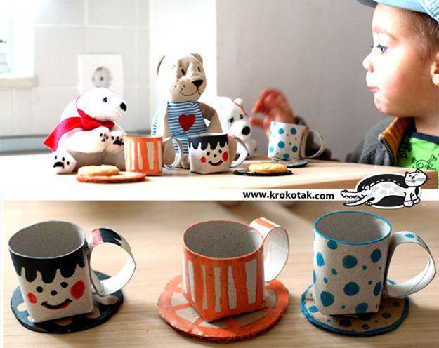 13 tolle DIY-Ideen, was man mit Kindern aus Klopapierrollen basteln kann!