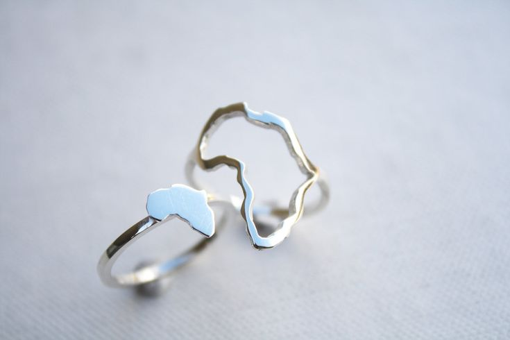 Africa ring outline of Africa delicate ring African continent ring sterling silver African jewelry. So cool!