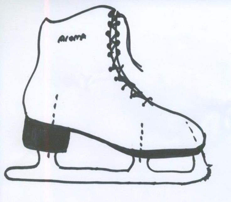 Ice Skating Boot Template