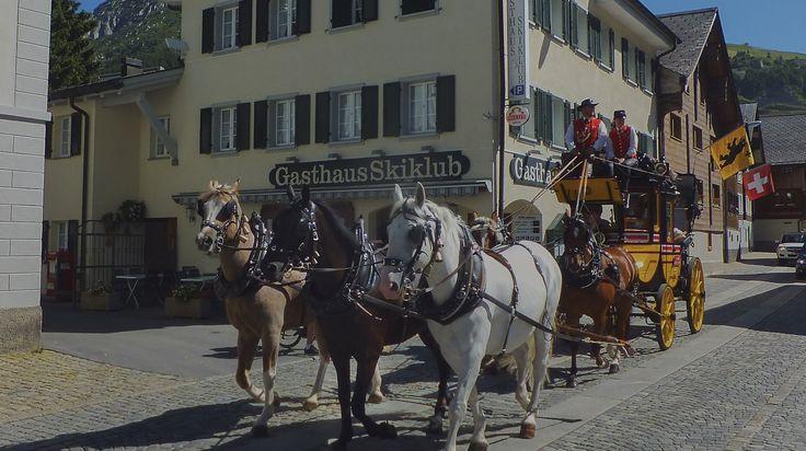 Attelage à Andermatt, Suisse