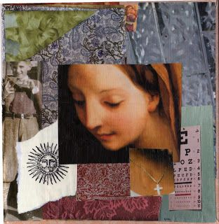 """""""in her sight"""" paper collage, by gregory a. milinovich, from the unlikely orange: collage"""