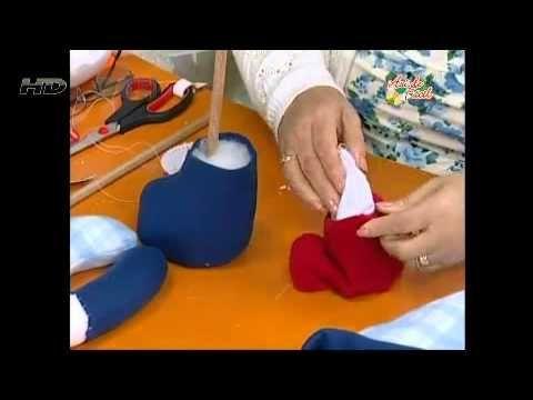 TEMAS DE FAMILIA MUÑECO DE NIEVE EN TELA 2da parte - YouTube