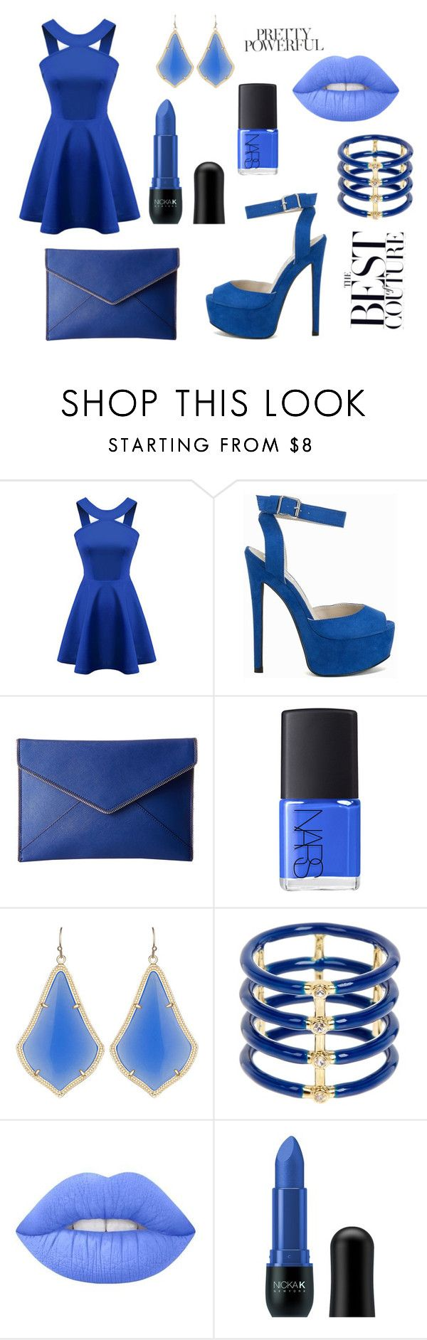 Untitled #9 by naomi-emmanuelle on Polyvore featuring Chicnova Fashion, Nly Shoes, Rebecca Minkoff, Elizabeth and James, Kendra Scott, Lime Crime, Nicka K and NARS Cosmetics